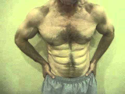 FREAKY ! ! 10-11 pack abs on 56 Year Old Man !