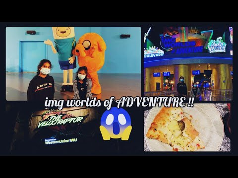 IMG WORLDS OF ADVENTURE !! Indoor THEME PARK in Dubai   V R Sisters