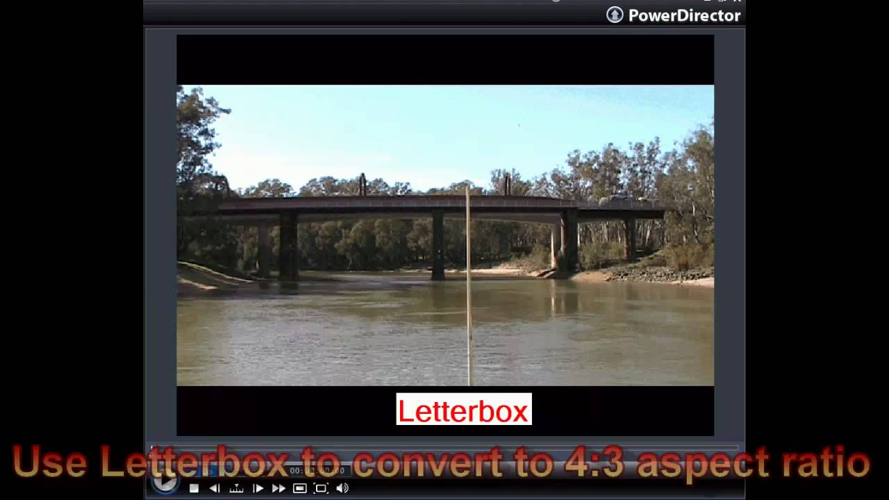CyberLink PowerDirector 7 - Change Aspect Ratio