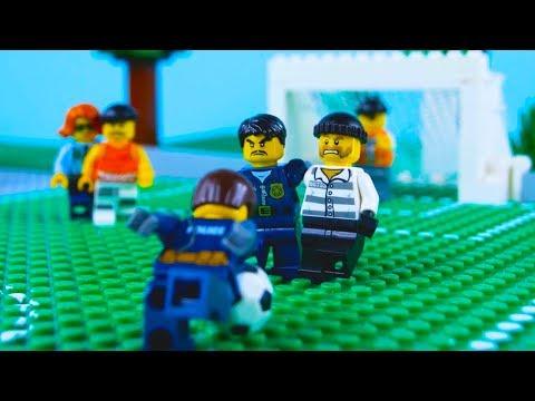 LEGO Football STOP MOTION LEGO Football: Brick World Cup | LEGO Police vs Crooks | By Billy Bricks |