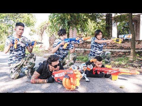 Nerf War: Couple Marksman Nerf Guns Seven Assassins Rescue Queen Nerf movie