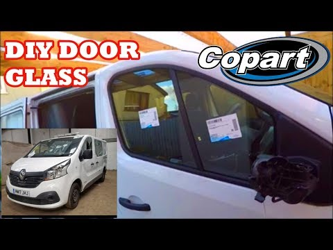 Replacing the door glass on a renault trafic. copart build