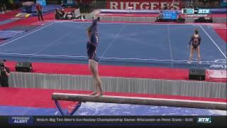 Mary Jane Horth (Illinois) 2017 Beam Big 10 Championships 9.85