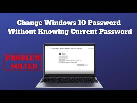 Change Windows 10 Password Without Knowing Current Password