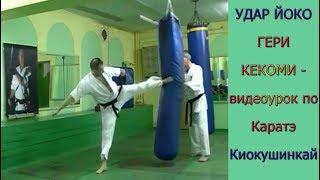 УРОКИ Каратэ Киокушинкай - Удар ЙОКО ГЕРИ КЕКОМИ урок № 10 ч.1 (YOKO GERI KEKOMY)