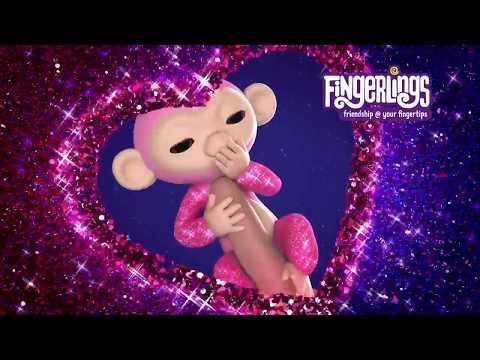 Блестящие обезьянки Fingerlings 💚 Амелия 💚 Кики 💚 Роза и 💚 Шугар