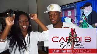 Cardi B - Bodak Yellow Latin Trap Mix feat. Messiah [Official Audio] REACTION