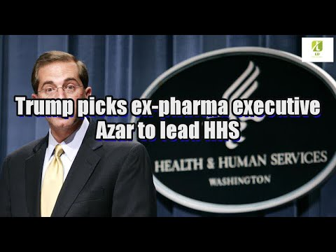 Trump picks ex-pharma executive Azar to lead HHS