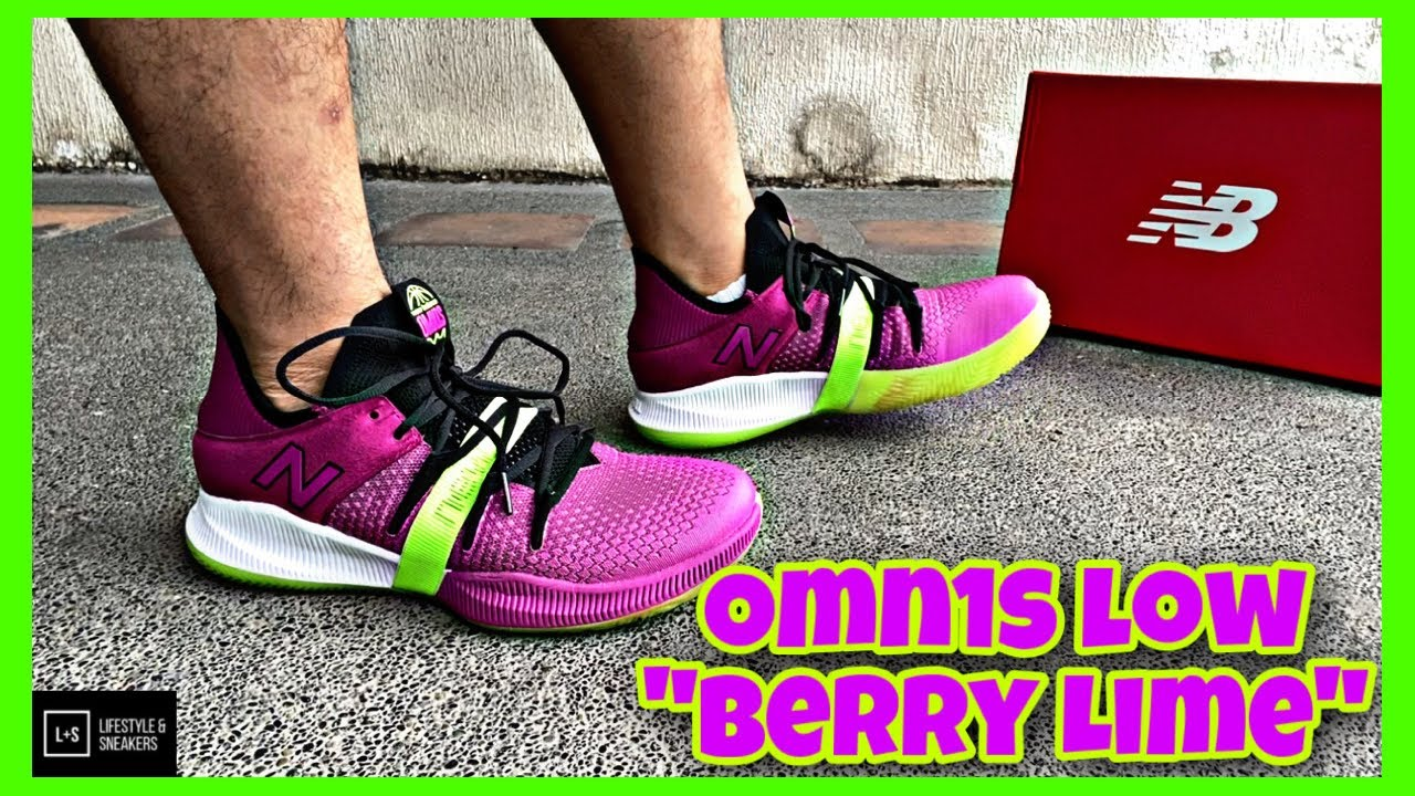 """CLOSER LOOK AT THE NEW BALANCE OMN1S LOW """"BERRY LIME"""""""