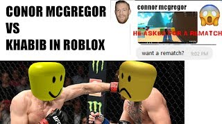 Conor Mcgregor VS Khabib Nurmagomedov! | ROBLOX VERSION