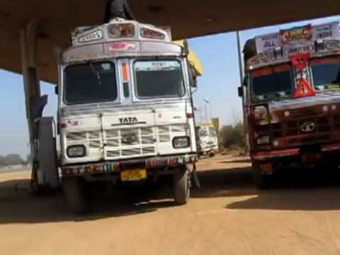 National Highway 8 truck stop somewhere south of Delhi, India