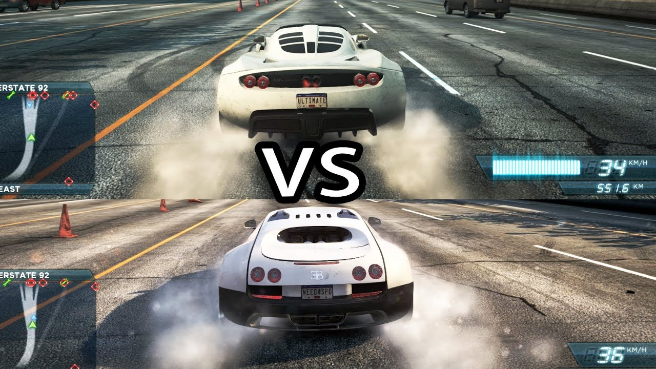 nfs most wanted 2 bugatti veyron ss vs hennessey venom gt youtube. Black Bedroom Furniture Sets. Home Design Ideas
