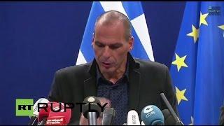 LIVE: Eurogroup meeting: Greek FinMin Varoufakis speaks after talks failure