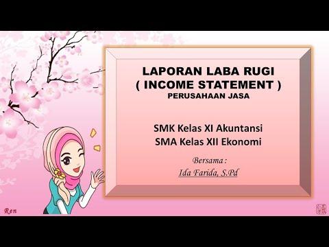 Laporan Laba Rugi Laporan Keuangan Perusahaan Jasa