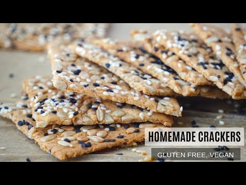 Homemade Gluten Free Crackers Recipe (Vegan) With Seeds