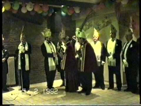 GULPEN - 1992: Receptie 11 en 33-jarig jubileum met prins Jos 1 van C.V. De Gaarekiekere.