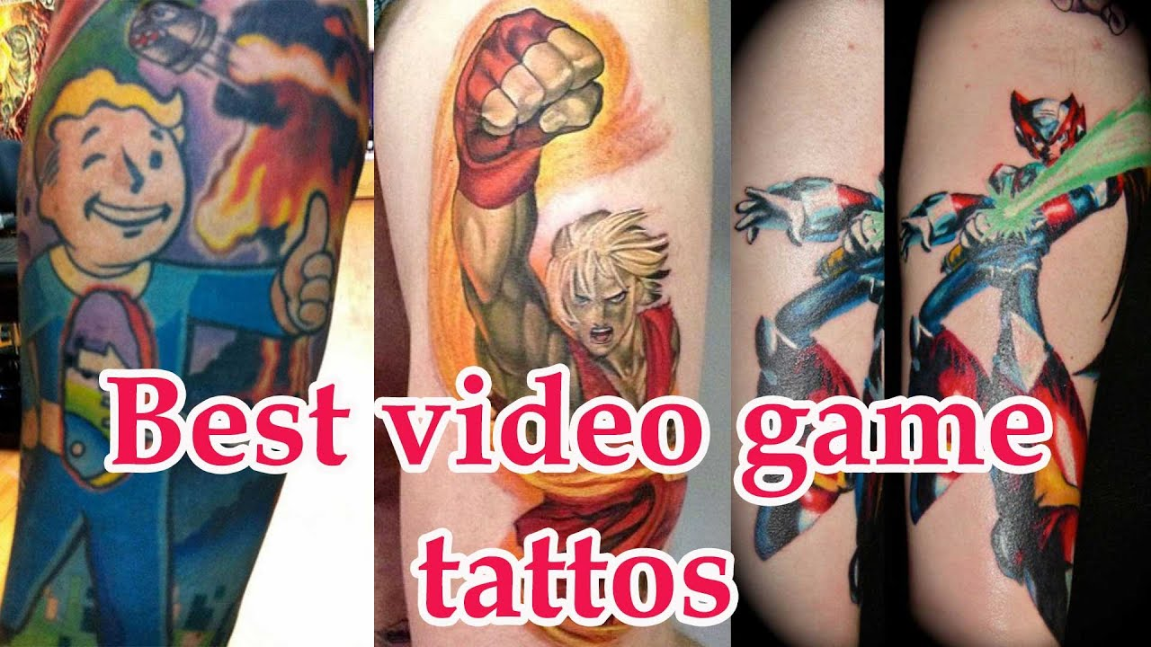 Best Video Game Tattoos Compilation Youtube