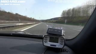 Top speed test BMW M3 delimited German autobahn