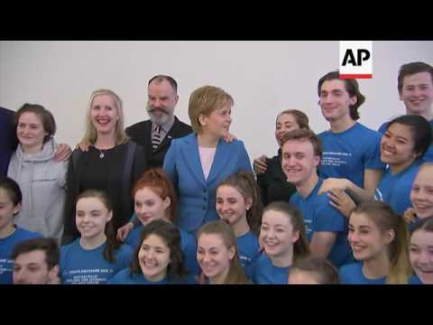 Sturgeon comments on Obama trip, during NY visit