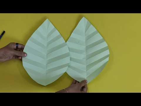 Giant Paper Leaf - Malayalam Tutorial    DIY 🦄 Ideas - Ep. 2