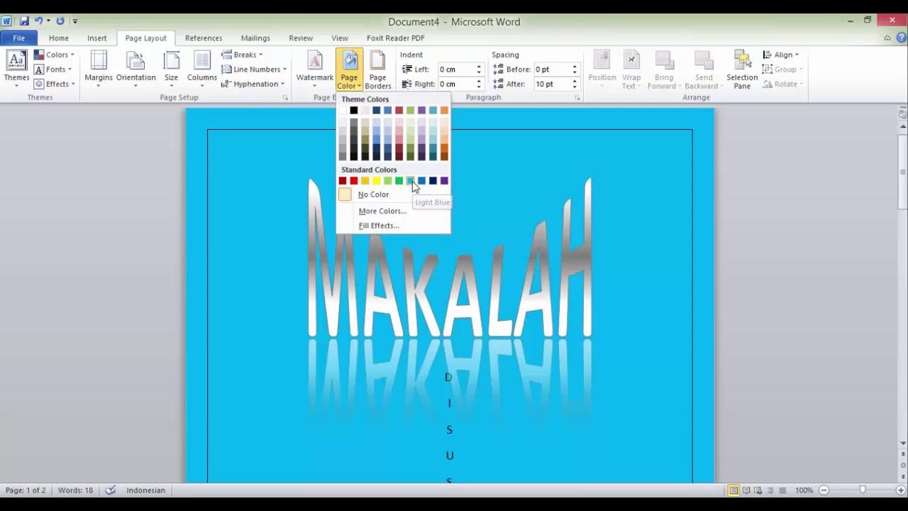 Cara Membuat Cover Makalah Di Ms Word 2010 Youtube