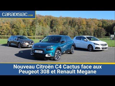 Le nouveau Citroën C4 Cactus face aux Peugeot 308 et Renault Megane