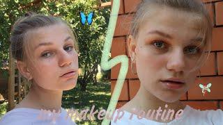 my makeup routine мой повседневный макияж