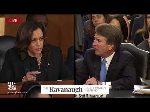 Harris asks Kavanaugh about his opinions on family separation and discriminatory immigration laws