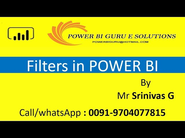 Filters in Power BI |Power BI Training in India,Dubai,US,canada,UK,australia,Singapore,Hyderanbad