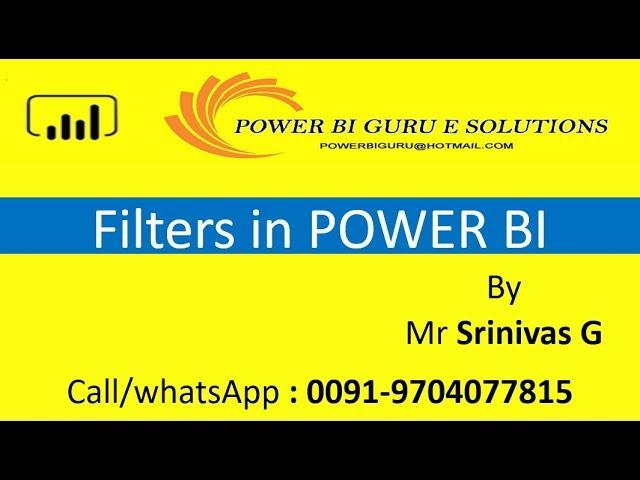 Filters in Power BI |Power BI Training in India,Dubai,US,canada,UK,australia,Singapore,Hyderanbad