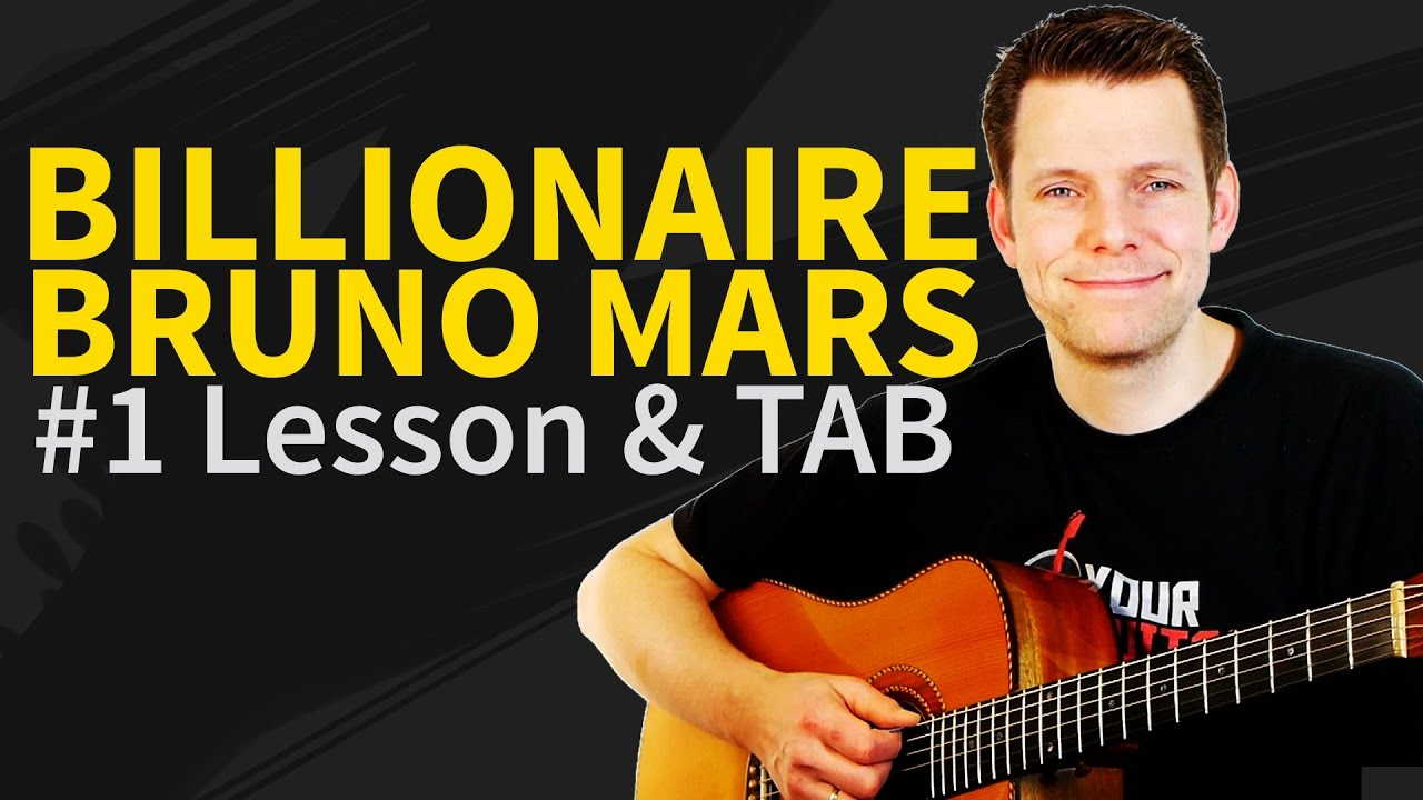 How To Play Billionaire On Guitar Lesson Tab Bruno Mars