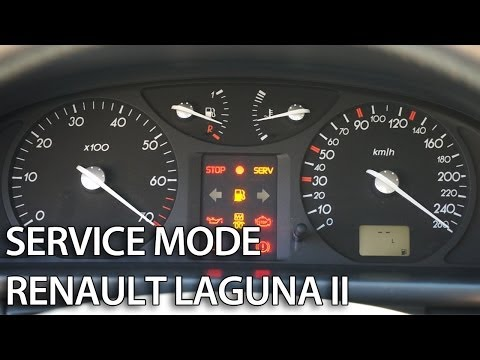 How to enter hidden menu in Renault Laguna II (secret service mode, ...