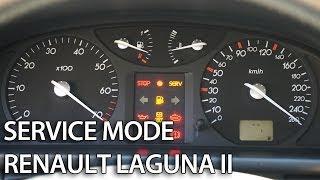How to enter hidden menu in Renault Laguna II (secret service diagnostic mode, self-test)