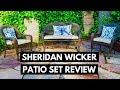 Sheridan Wicker Patio Set Review - Target Patio Furniture 3PC Set