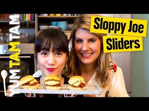Sloppy Joe Sliders // Mit selbstgemachten Mini Burger Buns // #yumtamtam