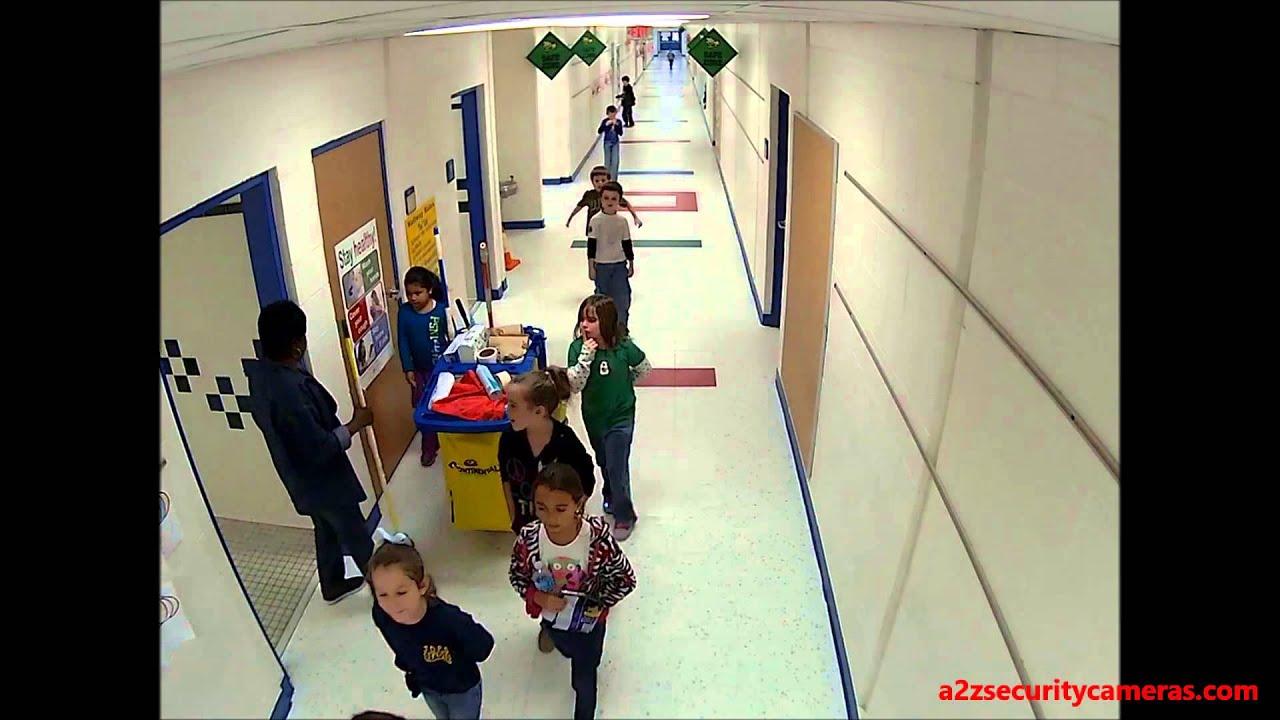 Acti E94 1 3mp Indoor Mini Dome Ip Camera In A School