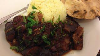 Tamarind Eggplant Masala (healthy, Gluten-free, Dairy-free, Oil-free, Vegan) | One Minute Recipes