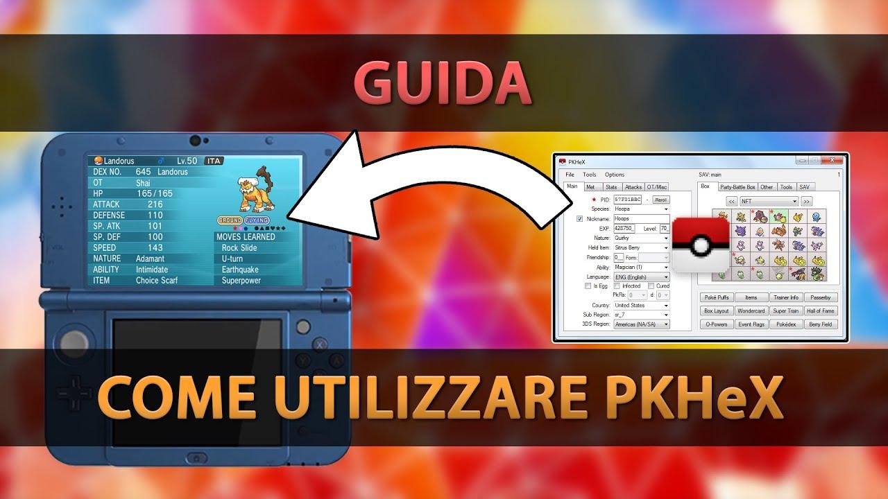 Come usare il PKHex - GUIDA