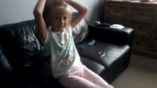 Gymnastics tricks in the front room