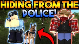 HIDING FROM THE POLICE! | ROBLOX: Emergency Response Liberty County