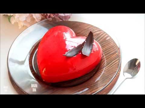 Создание муссового торта в форме Amore