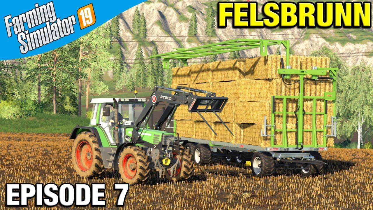 Farming Simulator 19 Timelapse - Felsbrunn FS19 Episode 7 BALE HANDLING