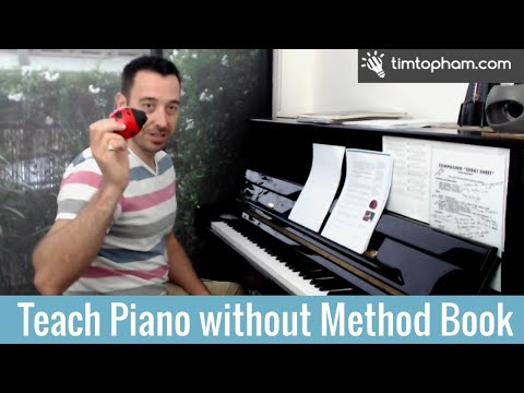 How to Teach Beginners Piano with no Method Book