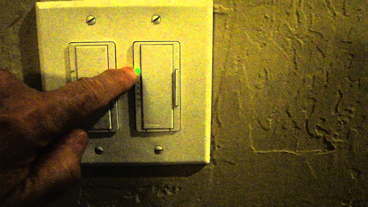 Lutron Maestro On Off Operationmp4 Youtube Light Switch