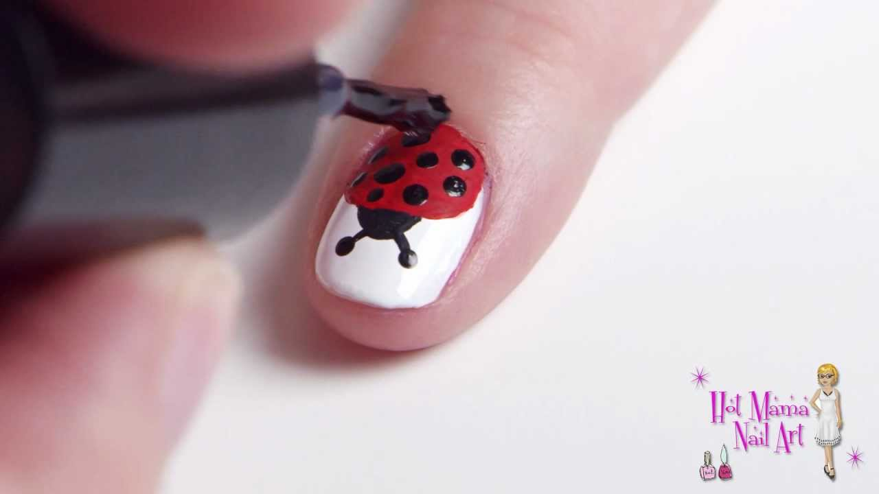 - Lady Bug Nail Art - YouTube