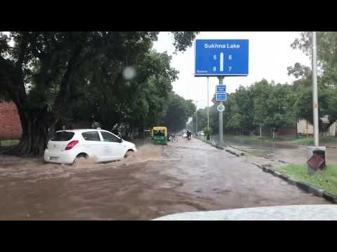 Chandigarh Road After Heavy Rain July 2018 Mp3
