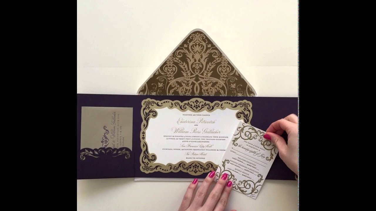 luxury gatefold wedding invitation by ceci new york