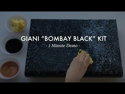 Bombay Black 1 Min Demo Giani Countertop Paint Youtube