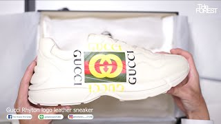 เปิดกล่อง GUCCI Rhyton logo leather sneaker