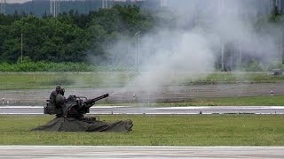 VADS撃ちまくり!!! Vulcan Air Defense System デモ 航空自衛隊千歳基地航空祭 thumbnail